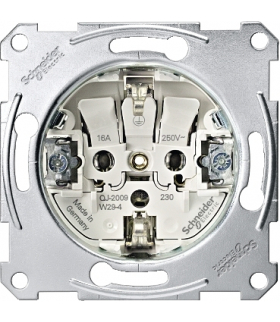 Merten Mechanizm gniazda 2P+PE Schuko zacisk bezśrubowy 250VAC 16A