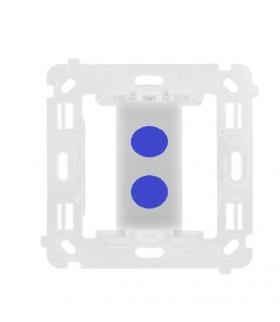 Łącznik/przycisk podwójny bezpotencjałowy, 230V, 2x2A (mechanizm bez ramki montażowej) STWB2.00