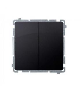 Łącznik schodowy podwójny (moduł) 10AX 230V, zaciski śrubowe, grafit mat, metalizowany BMW6/2.01/28