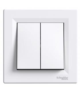 Asfora Łącznik podwójny schodowy (zaciski śrubowe) biały Schneider EPH0600321