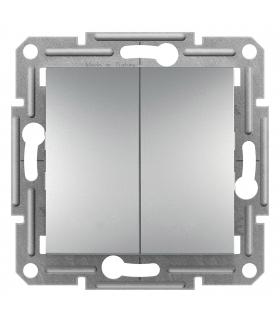 Asfora Łącznik podwójny schodowy bez ramki (zaciski śrubowe) aluminium Schneider EPH0600361