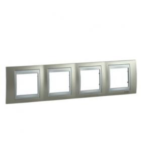 Unica Top, ramka 4-krotna pozioma, opal Schneider MGU66.008.095
