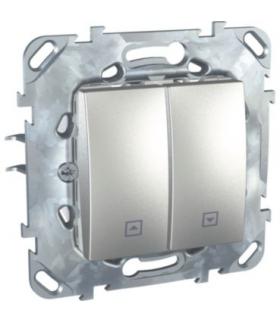 Unica Top Przycisk żaluzjowy aluminium Schneider MGU50.207.30Z