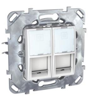 Unica Gniazdo komputerowe 2x RJ45 kat.5 STP biel polarna Schneider MGU50.2222.18Z