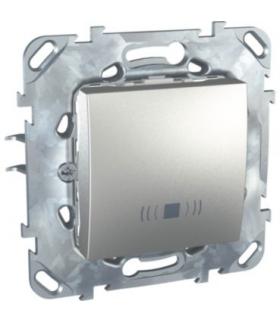"""Unica Top Przycisk """"dzwonek"""" aluminium Schneider MGU50.206.30CZ"""