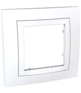 Unica, ramka 1-krotna Basic, biała Schneider MGU2.002.18