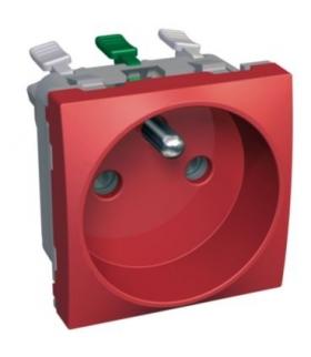 Altira 1 SO 2P+E with shutters pin earth red Schneider ALB45278