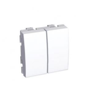 Schneider Electric Altira - podwójny łącznik schodowy - 20 A - biel polarna ALB44026