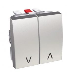 Altira przycisk pojedynczy 10 A aluminium Schneider ALB46089