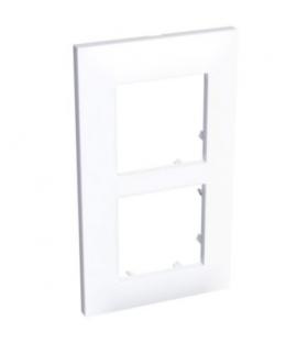 Altira ramka ozdobna dla 2 mechanizmów pionowa biel polarna 71 mm Schneider ALB44655