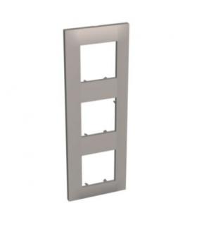Altira - ramka ozdobna - 3 zespoły pionowa - granit - 71 mm ALB45729