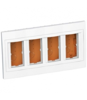 Altira flush concentration box 4 x 2 func 45x45 depth 56,2mm polar white Schneider ALB44468N