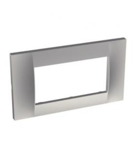 Altira - ramka ozdobna - dla 2 mechanizmów jednokrotna pozioma - aluminium ALB46654