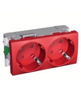 Altira 2 SO 2P+E tamperproof & shutt. side earth red Schneider ALB45256