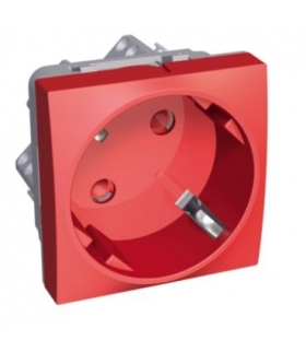 Altira 1 SO 2P+E with shutters side earth red Schneider ALB45283