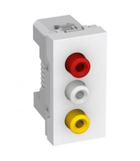 Altira 3 RCA connector socket outlet 1 module white Schneider ALB44372