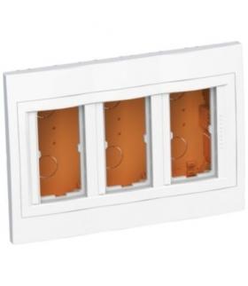 Altira puszka podtynkowa 3 x 2 45x45 głębokość 56,2mm biel polarna Schneider ALB44466N