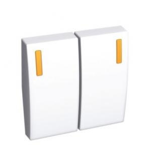 Altira klawisz łącznika 2 x 1 moduł biel polarna Schneider ALB44084