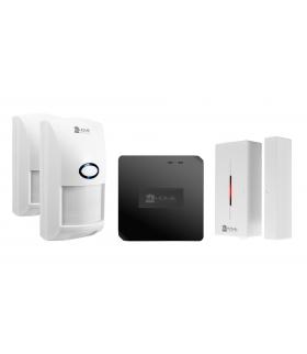 BEZPRZEWODOWY SYSTEM ALARMOWY WAS-90H1 - bramka WiFi, kontaktron, 2x czujnik ruchu PIR
