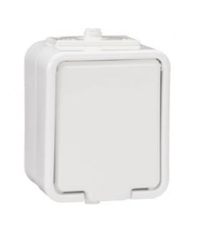 Cedar Gniazdo pojedyncze 2P+PE IP44 biały Schneider NT130H01