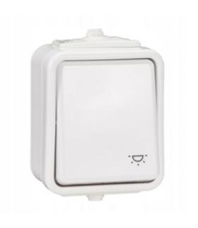 """Cedar Przycisk """"światło"""" IP44 biały Schneider WNT102C01"""