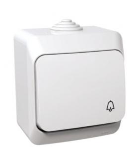 """Cedar Plus Przycisk """"dzwonek"""" IP44 biały Schneider WDE000512"""
