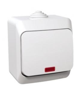 Cedar Plus Łącznik krzyżowy z podświetleniem IP44 biały Schneider WDE000571