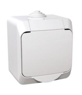 Cedar Plus Gniazdo pojedyncze 2P+PE z białą klapką IP44 biały Schneider WDE000540