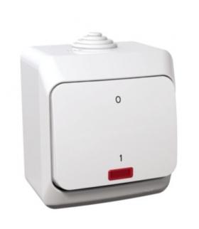 Cedar Plus Łącznik 2-biegunowy z podświetleniem IP44 biały Schneider WDE000521