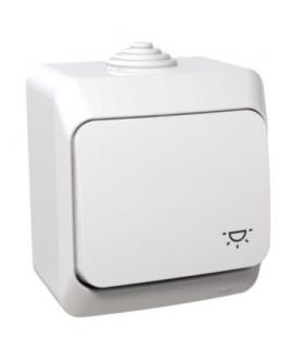 """Cedar Plus Przycisk """"światło"""" IP44 biały Schneider WDE000513"""