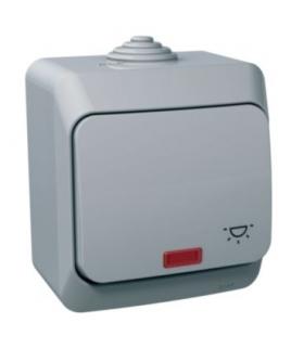 """Cedar Plus Przycisk """"światło"""" IP44 szary Schneider WDE000616"""