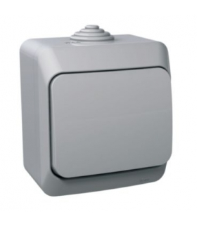 Cedar Plus Gniazdo pojedyncze 2P+PE z szarą klapką IP44 szary Schneider WDE000640