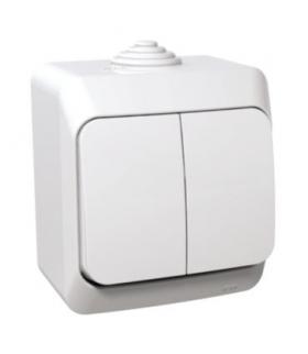 Cedar Plus Łącznik świecznikowy z podświetleniem IP44 biały Schneider WDE000551