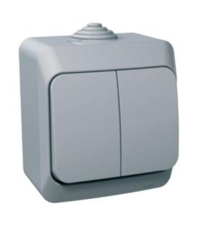 Cedar Plus Łącznik świecznikowy IP44 szary Schneider WDE000650