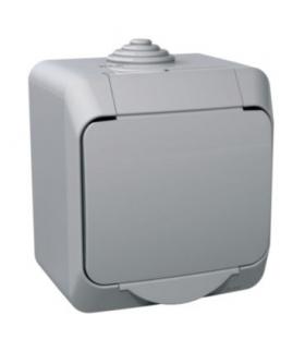Cedar Plus Łącznik 1-biegunowy IP44 szary Schneider WDE000610