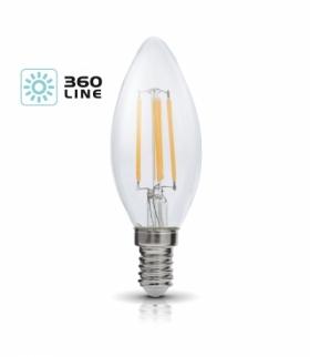 Żarówka LED FSW 4W E14 barwa CIEPŁOBIAŁA 360 Line KOBI LIGHT KAFSWE144WCB
