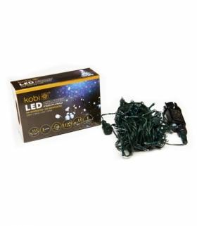 Lampki choinkowe LED z programatorem K100G IP44 BIAŁE KOBI LIGHT KCHK100GB