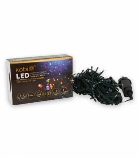 Lampki choinkowe LED z programatorem K100G IP44 KOLOROWE KOBI LIGHT KCHK100GM