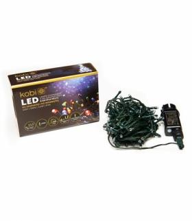 Lampki choinkowe LED z programatorem K100 IP44 KOLOROWE KOBI LIGHT KCHK100M
