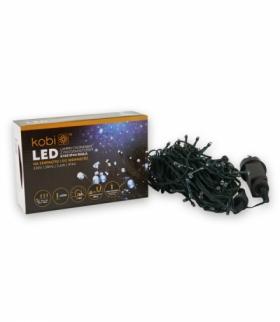 Lampki choinkowe LED z programatorem K100 IP44 BIAŁE KOBI LIGHT KCHK100B