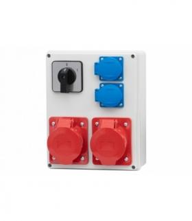 Rozdzielnica R-240 16A/5p, 32A/5p, 2x230V, 0-1 F-ELEKTRO RB.F3.0091