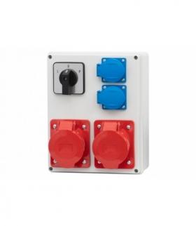 Rozdzielnica R-240 16A/4p, 32A/4p, 2x230V, LP F-ELEKTRO RB.F3.0143
