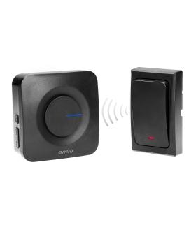 Dzwonek bezprzewodowy ONDO AC, sieciowy, przycisk bezbateryjny, 36 dźwięków, zasięg 200m