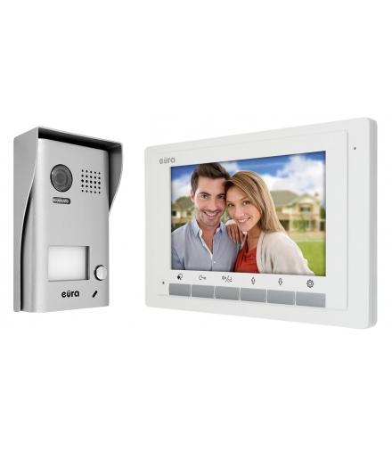 WIDEODOMOFON EURA VDP-49A5 2EASY - ekran 7, biały