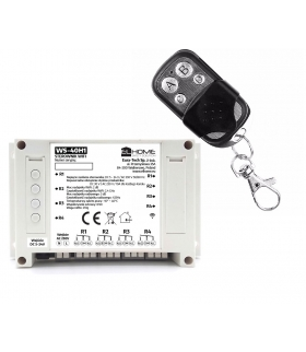 STEROWNIK WiFi i RF 433 MHz WS-40H1 - 4 kanały DC 5-24V/ AC 230V / 10A, na szynę DIN