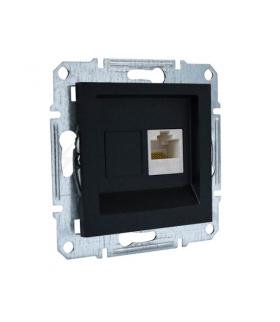 Asfora Gniazdo komputerowe RJ45 kat.5e UTP bez ramki antracyt Schneider EPH4300171