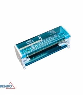 BLOK ROZDZIELCZY 30 ZACISKÓW 2x15 (11x5,3mm + 2x7,5mm + 2x9,1mm) BEMKO A18-MDB-215