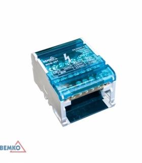 BLOK ROZDZIELCZY 28 ZACISKÓW 4x7 (5x5,3mm + 2x7,5mm) BEMKO A18-MDB-407