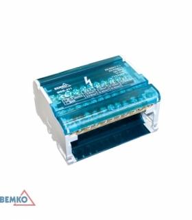 BLOK ROZDZIELCZY 44 ZACISKI 4x11 (7x5,3mm + 2x7,5mm + 2x9mm) BEMKO A18-MDB-411