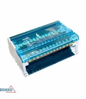 BLOK ROZDZIELCZY 60 ZACISKÓW 4x15 (11x5,3mm + 2x7,5mm + 2x9,1mm) BEMKO A18-MDB-415